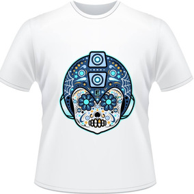 Camiseta Mega Man Skull Sugar Mariachi Rockman X Face Camisa