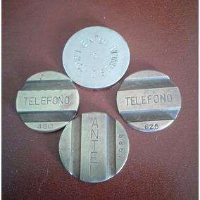 4 Fichas De Teléfono. Una De Antel 1989