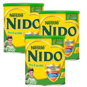 3 Latas Leche Pre-escolar Nido ® De 3 A 5 Años 1.6kg