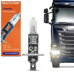 Lâmpada Halógena Multilaser Au871 H1 3200k 70w 24v Caminhão