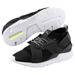 Tenis Puma Ignite Muse Evoknit Sneakers En 25 Negro Blanco