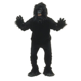 Fantasia Gorila Chimpanzé Macaco Animal Halloween Carnaval