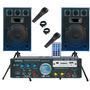 2 Bafle 300w + Consola Usb Sd Fm Karaoke 4 Canales 200w+2mic