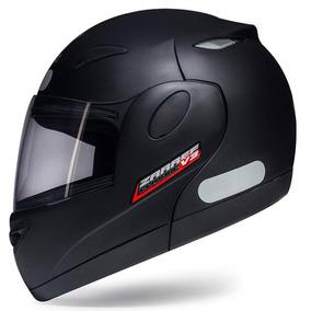 Capacete Moto Escamoteável Bullitz Zarref V3 Preto Fosco