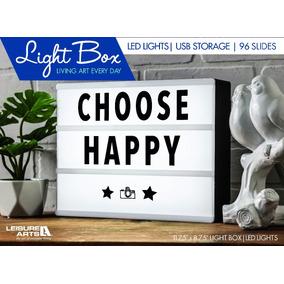 Light Box Luminária Led Cinema A4 96 Caracteres Let/ione Fes