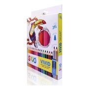 Lápis De Cor Profissional  Sivo Vivid Premium 36 Cores