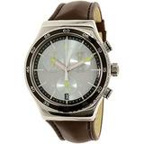 Reloj De Cuarzo Suizo De Cuero Marrón Hombre Irony Yvs429