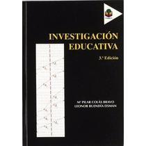 Livro Em Espanhol - Investigación Educativa