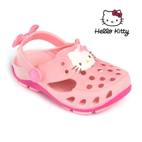 Babuche Crocs Hello Kitty Rosa Baby Infantil Plugt Original
