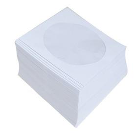 500 Capas Envelope Box Branco Janela Acetato Para Cd Dvd