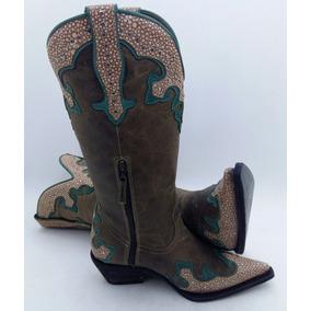 Promoção Montaria Bota Feminina Country Barato Texana Linda