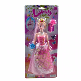 Boneca Lovely Doll C/acess/som/luz Noiva