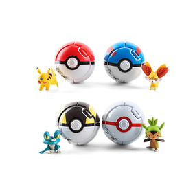 Pokemon Kit Coleção - 4 Pokébolas + 4 Pokémons