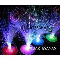 Oferta Centros De Mesa Luminoso Fibra Optica , Con Pilas X6