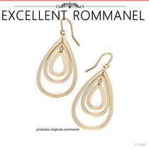 Rommanel Brinco 6 Gotas (par) Vazadas Folheado Ouro 523049