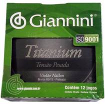 Encordoamento Giannini Titanium Violão Nylon Caixa Com 12