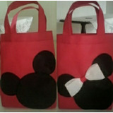 Bolsitos Para Cotillón Ecológico Pop Mickey O Minnie 20x25