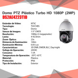 Domo Ptz Plástico Hikvision Turbo Hd 1080p 2mp Ds2ae4223tid