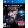 Metal Gear Solid V 5 Ground Zeroes Juego Ps4 Oferta