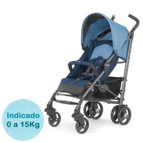 Carrinho De Bebê Chicco Liteway 2 Blue Promoção Frete Gratis