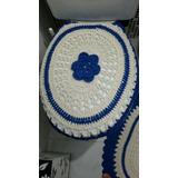 Capa De Croche Com Flor Para Tampa De Vaso Sanitário