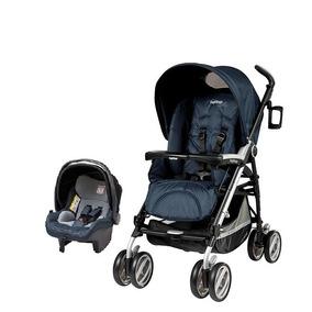 Carrinho Peg Pérego Pliko P3 Compact Cielo + Bebê Conforto