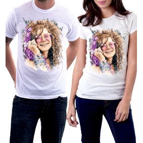 Camiseta Janis Joplin A Little Girl Blue Pearl