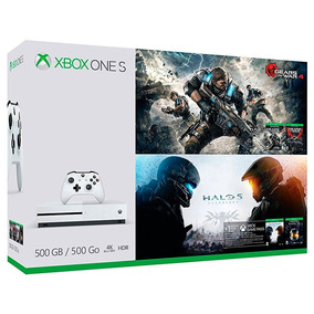 Console Xbox One S 500gb Gears Of War 4 E Halo 5 + Brinde