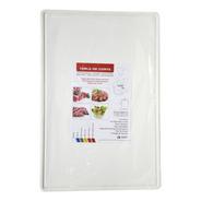 Tabla De Corte Gastronómica Plastico Teflonado 40x60cm