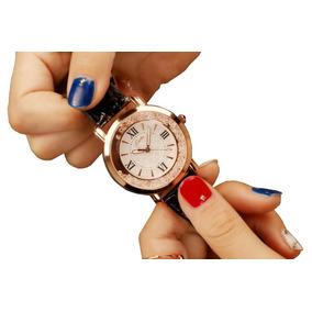 Lindo Relógio Feminino Pulseira De Couro Super Promoção