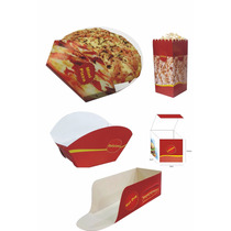 Embalagem Hotdog Cestinha Mini Hamburguer Pipoca Mini Pizza