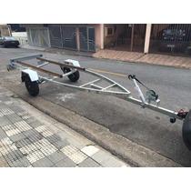 Carreta P/ Barco 5m E 6m Galvanizada A Fogo - Carretinha 0km