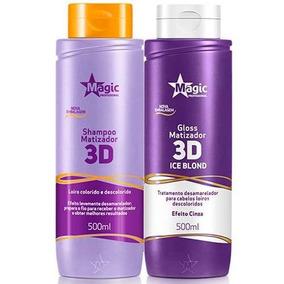 Shampoo Magic Color 500ml + Máscara 3d Ice Blond 500ml