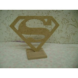 Enfeite De Mesa Superman,super Homem 10 Peças Mdf