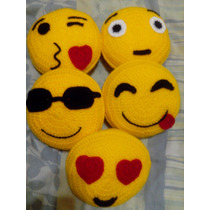 Almohadón Emoticon Crochet