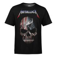 Camiseta Masculina Metallica Estampa Digital Md05