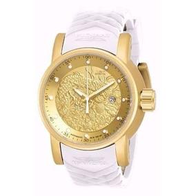 Relógio Invicta S1 Yakuza 19546 Dourado Branco Promoção!!!!