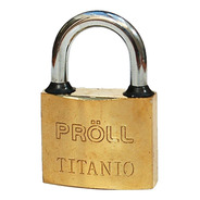 Candado Proll Titanio 40mm Resistente Al Agua Doble Traba