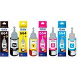 Botellas 664 Tinta 4 Colors 70ml Impresoras Epson Original
