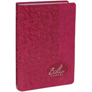Bíblia Sagrada Rosa Pink Letra Gigante Feminina Luxo Índice