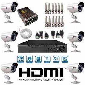 Kit Vigilância Cftv 6 Câmeras Infra+acessórios+dvr 8 Canais