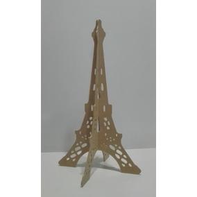 Torre París 40 Cm Mdf Madera Centro De Mesa Recuerdo Evento