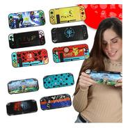 Protector Nintendo Switch Y Lite Acrilico Diseño Case Rigido