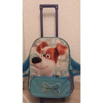 Mochila Original Pets Película Mascotas Max Paquete Escolar