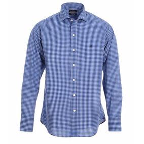 Camisa Brooksfield Hombre Algodón Cuadros Sport Moda B03242z