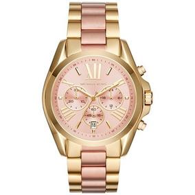 Relógio Michael Kors Mk6359 Original Ouro Com Rose Gold