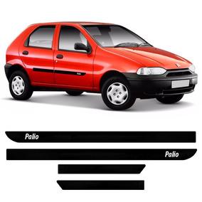 Jogo Friso Borrachão Lateral Fiat Palio 96 97 98 99 00 4pts