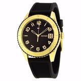 Relojes Mujer Tommy Hilfiger Dorado Negro Silicona Original