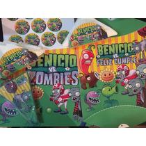 Pack Cotillon Personalizado Plantas Vs Zombies P/15