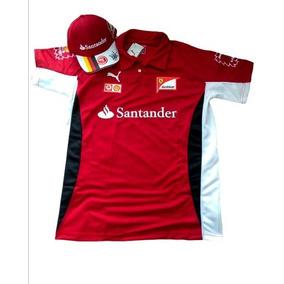 Kit Camisa Polo Ferrari + Bone Ferrari Santander Gola V